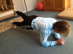 Praying and planking. They go together nicely.