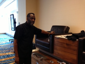 Moses shines shoes at the JW Marriott in Indianapolis