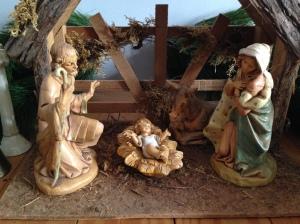 Mary, Joseph, Baby and Donkey