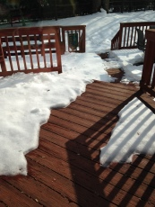 I shoveled and the sun did the rest.