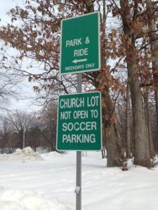 Church lot closed