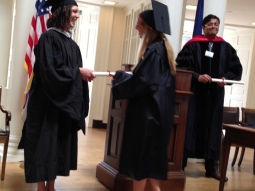 Steph gets her diploma