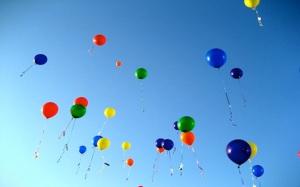 balloon Letting-Go bunch