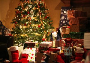 Christmas with presents