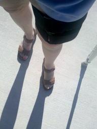 brace stocking and shadow