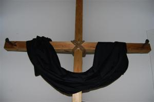 cross black drape