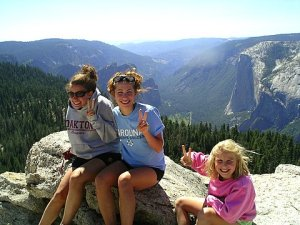 girls atop hike