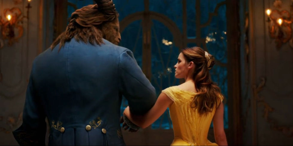 Beauty-and-the-beast depart together