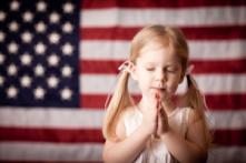 American flag prayer